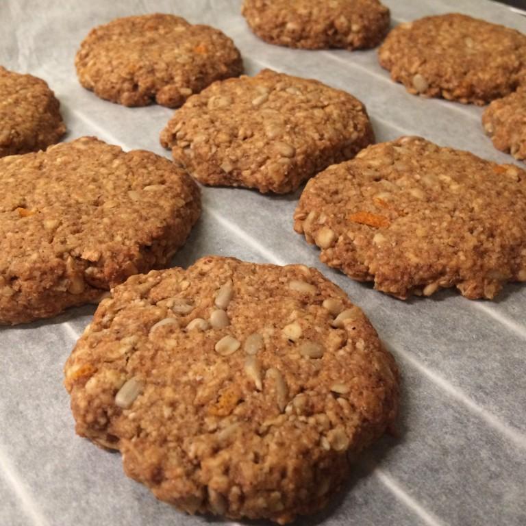 Appelsin og havre cookies