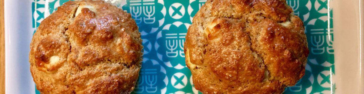 Fetaost og oliven muffins