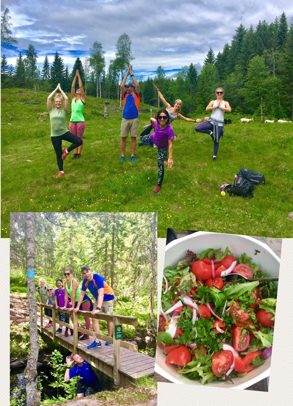 Høstyoga, tur og sunn mat i marka 30 september 2017