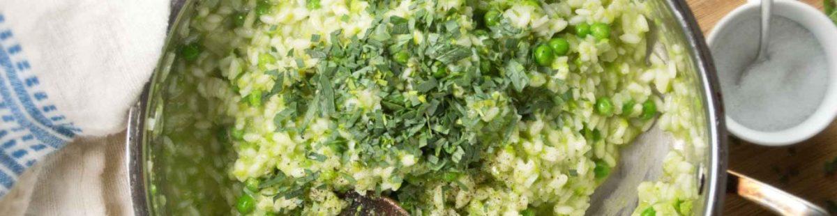 Risotto med grønnsaker og friske urter