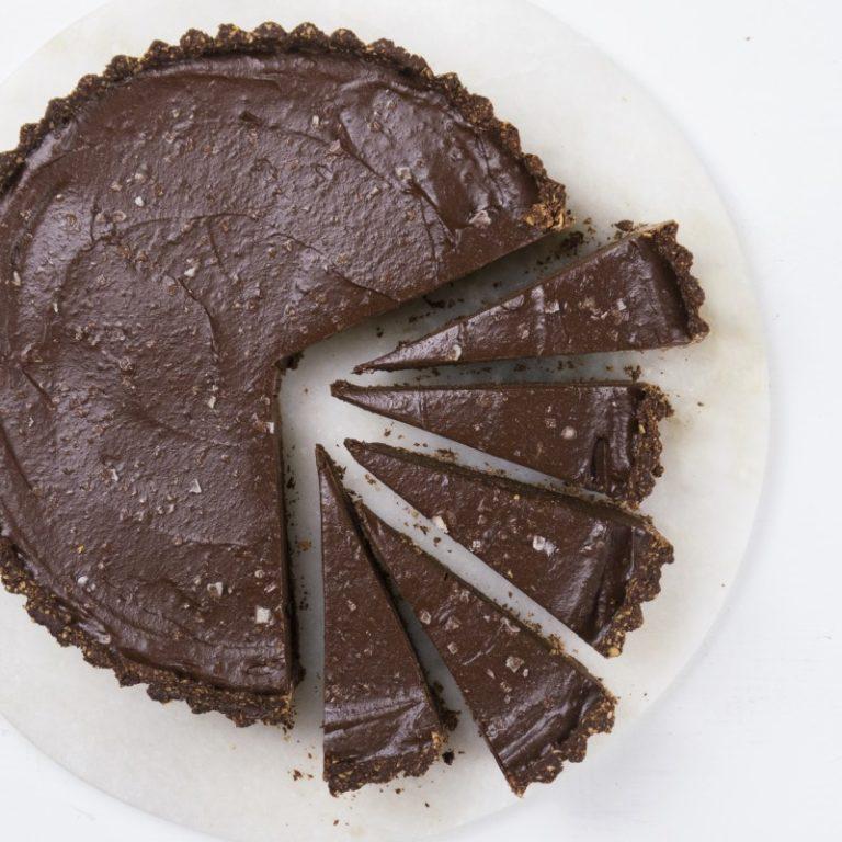 Raw Sjokolade terte- uten mel, sukker og melk