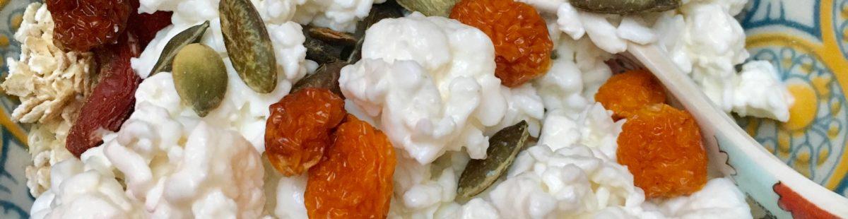 Proteinrik mellommåltid- Cottage cheese