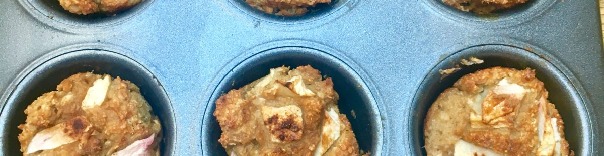 Eplemuffins med cottage cheese & havre- Glutenfri-fiber og proteinrike